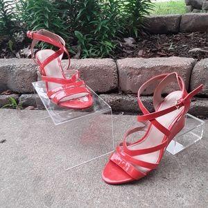 J Crew Marci Patent Leather Wedge Sandals Heels